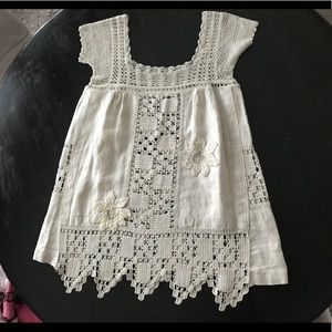 Dresses & Skirts - Vintage crochet babydoll / tunic  dress